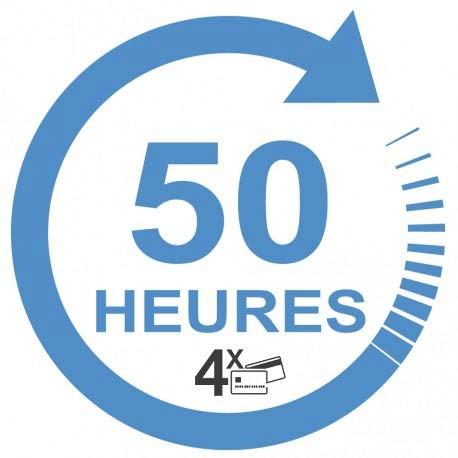 Forfait 30 heures : 1500 € (payable en 3 X 500€)