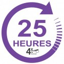 Forfait 25 heures : 1350 €