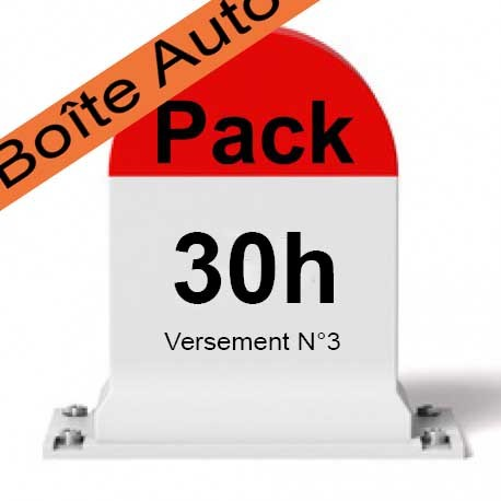 PACK 30 heures de conduite Boîte Automatique (Versement 3/3)