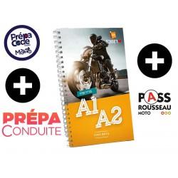 Prépacode + Pass Moto + Livre code ETM 192 pages + Prépa Conduite