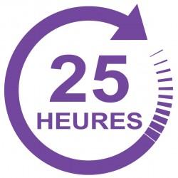 Forfait 25 heures : 1320 € (payable en 3 X 440 €)