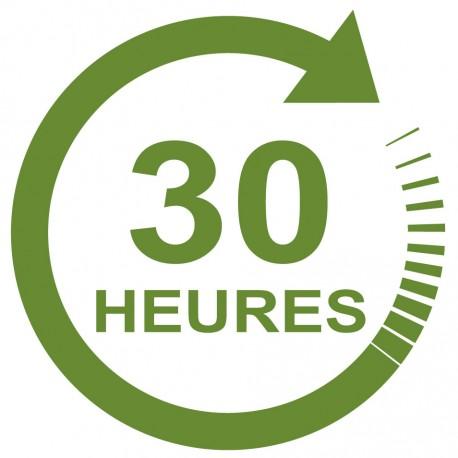 Forfait 30 heures : 1500 € (payable en 4 X 375€)