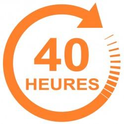 Forfait 40 heures : 1980 € (payable en 3 X 660 €)