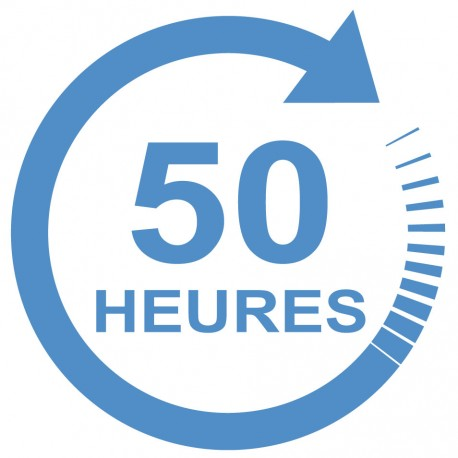 Forfait 50 heures : 2400 € (payable en 3 X 800 €)