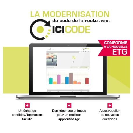 """Code en ligne """" Ici Code Planète Permis"""" Réforme 2016"""