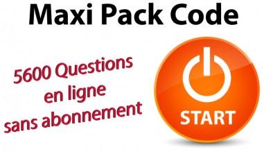 Maxi Pack Code en ligne 5600 questions - Nouvelle réforme